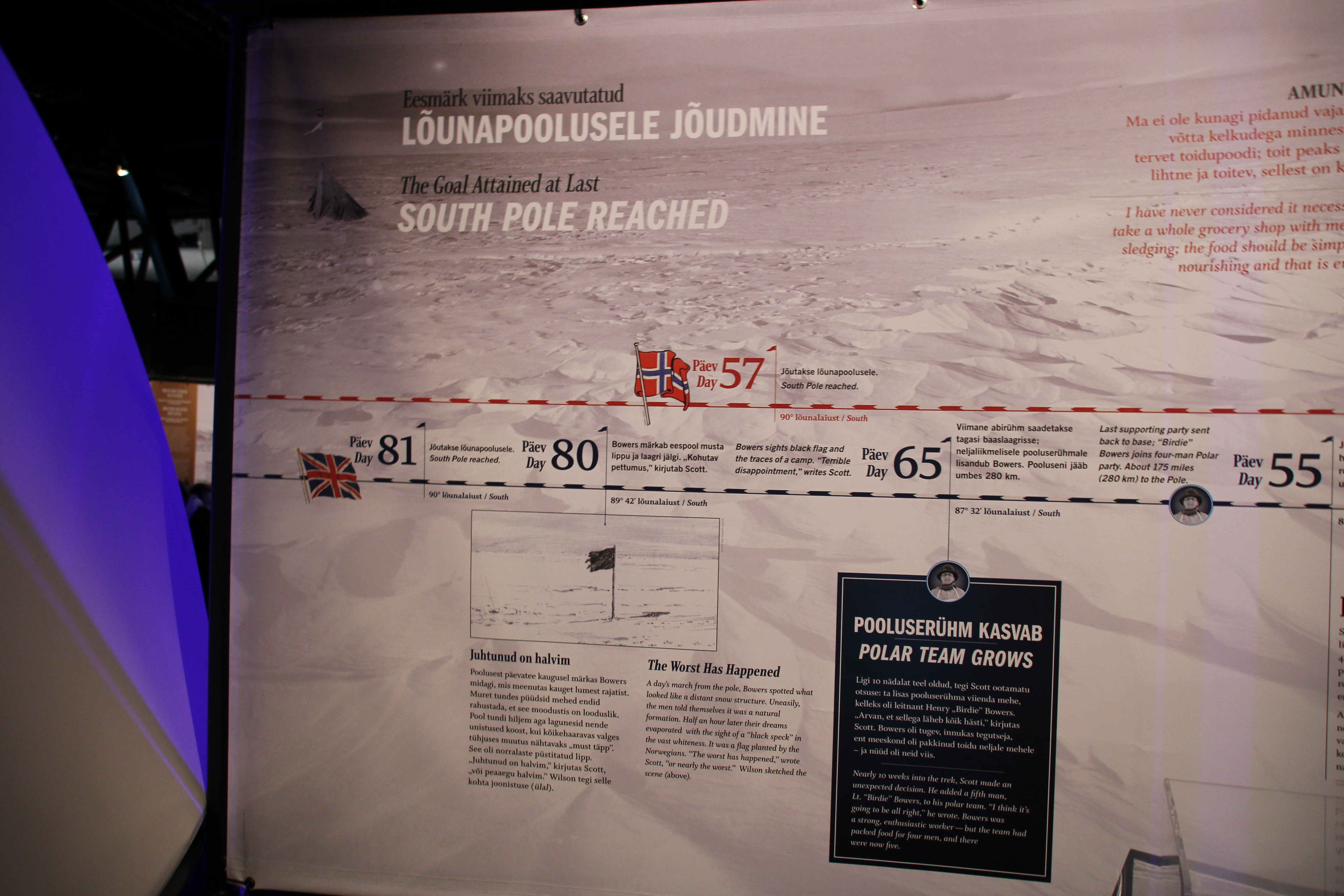 Ende des Wettlaufs zum Südpol